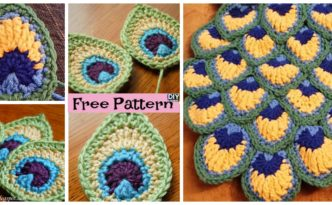 diy4ever- Beautiful Crochet Peacock Feathers - Free Patterns