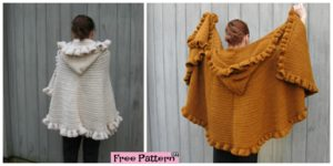 diy4ever- Cozy Crochet Ruffled Shawl - Free Pattern