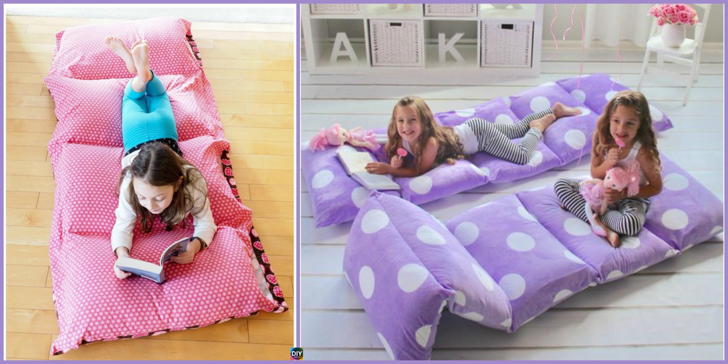 cozy diy pillow bed - very easy tutorial - diy 4 ever Diy Pillow Bed