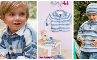 diy4ever- Cozy Kids Knit Sweater Set- Free Pattern