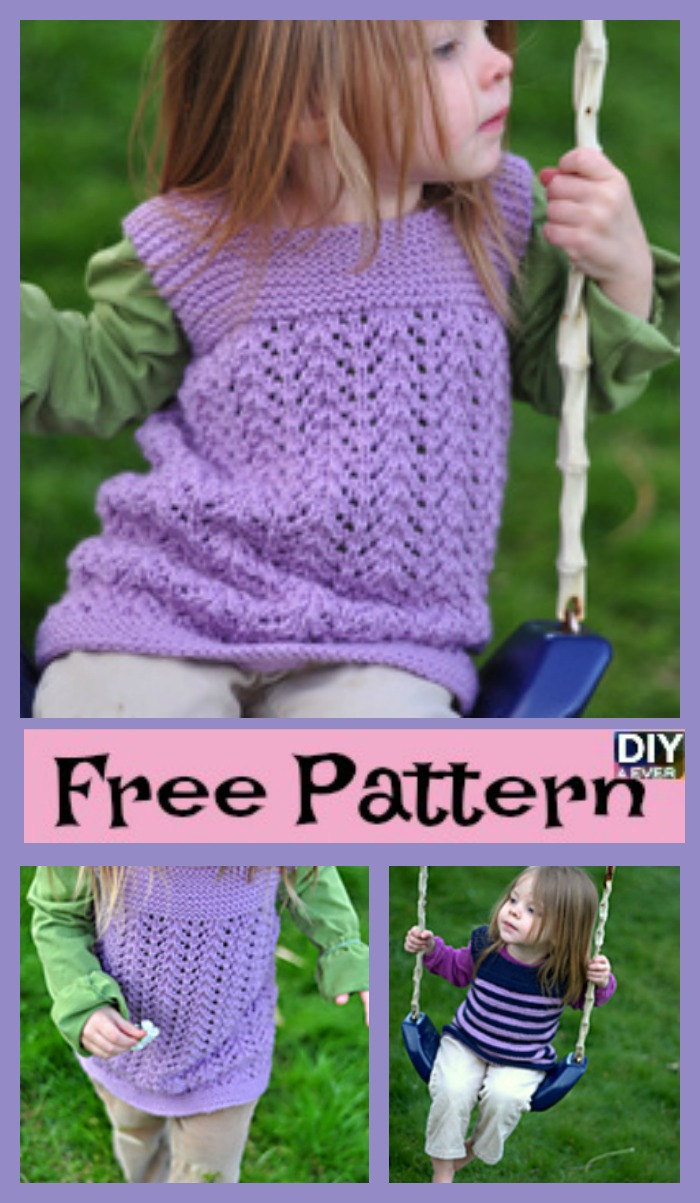 diy4ever- Cozy Knitted Toddler Tunic - Free Pattern