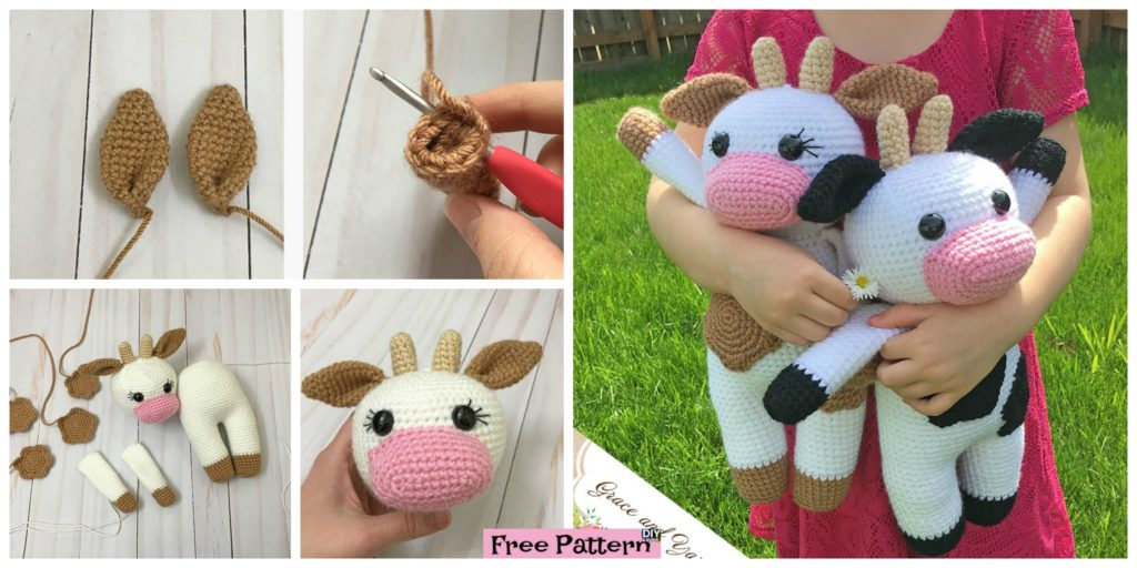 Crochet Amigurumi Cow Free Pattern Diy 4 Ever