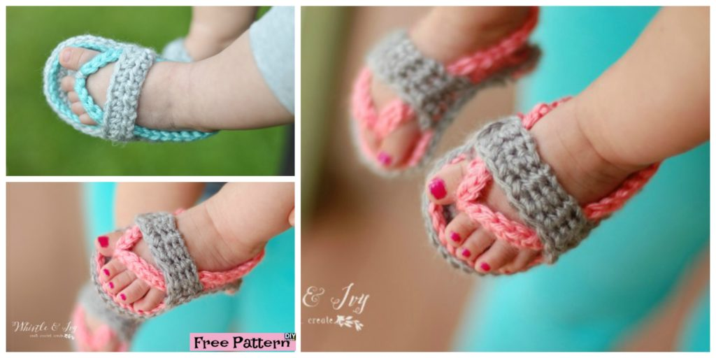 Crochet Baby Flip Flop Sandals Free Pattern Diy 4 Ever