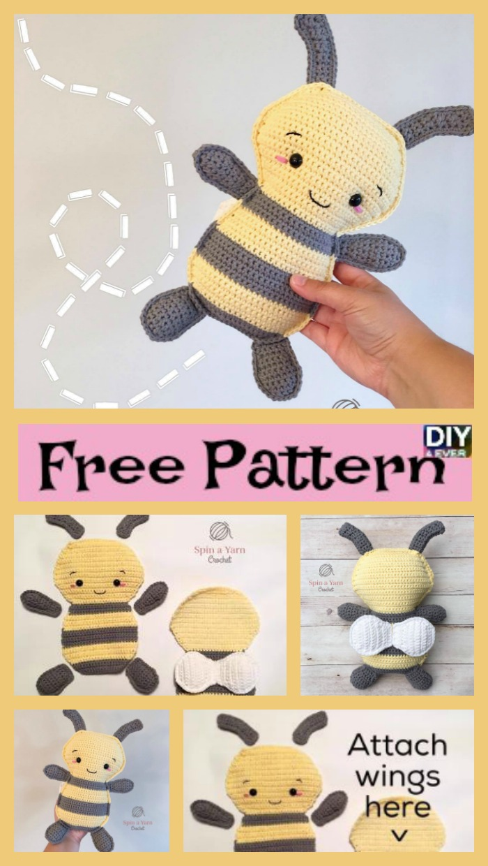 Make your own little crocheted bee with this free amigurumi ... | 1240x700