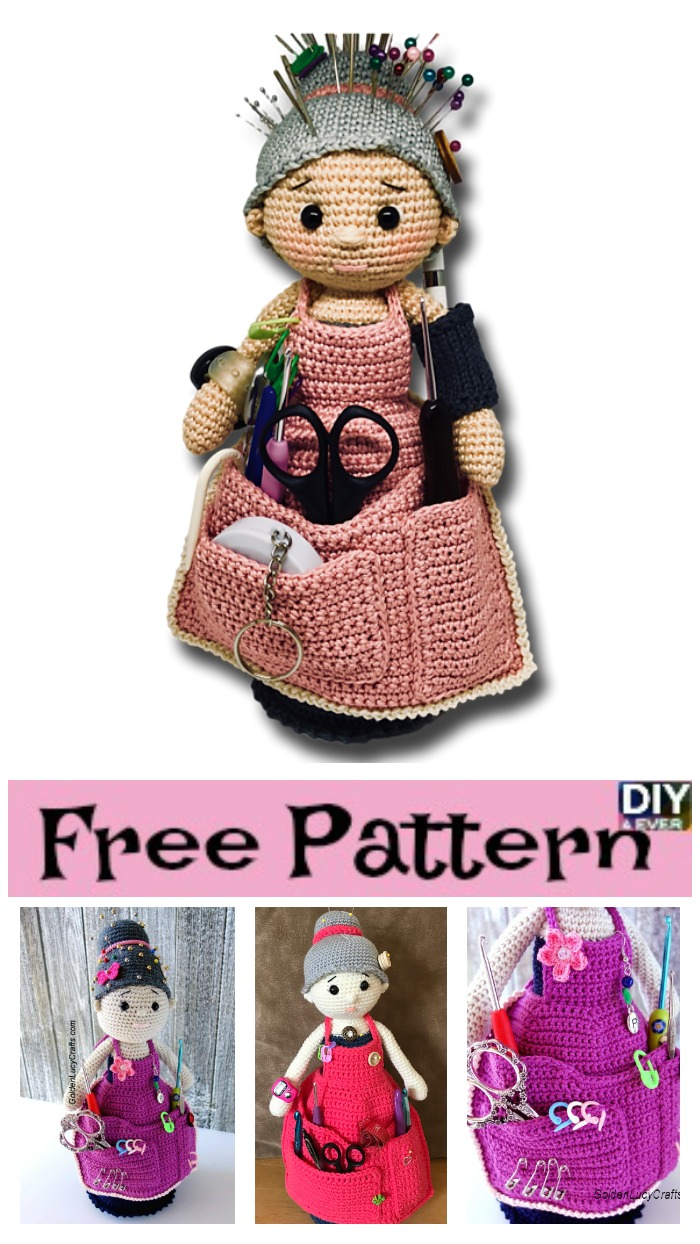 diy4ever- Crochet Crafter Granny Organizer - Free Pattern