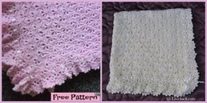 diy4ever- Crochet Fantail Baby Blanket - Free Pattern