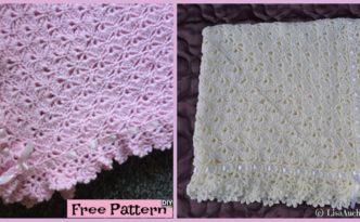 diy4ever- Crochet Fantail Baby Blanket - Free Pattern