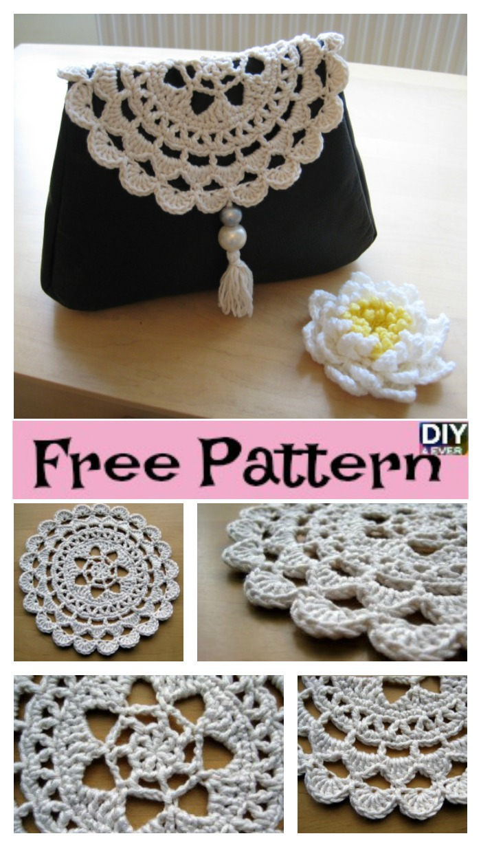 Diy4ever Crochet Passion Flower Doily Free Pattern