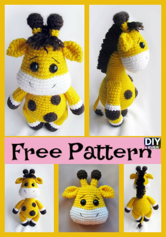 diy4ever- Cute Crochet Baby Giraffe - Free Pattern