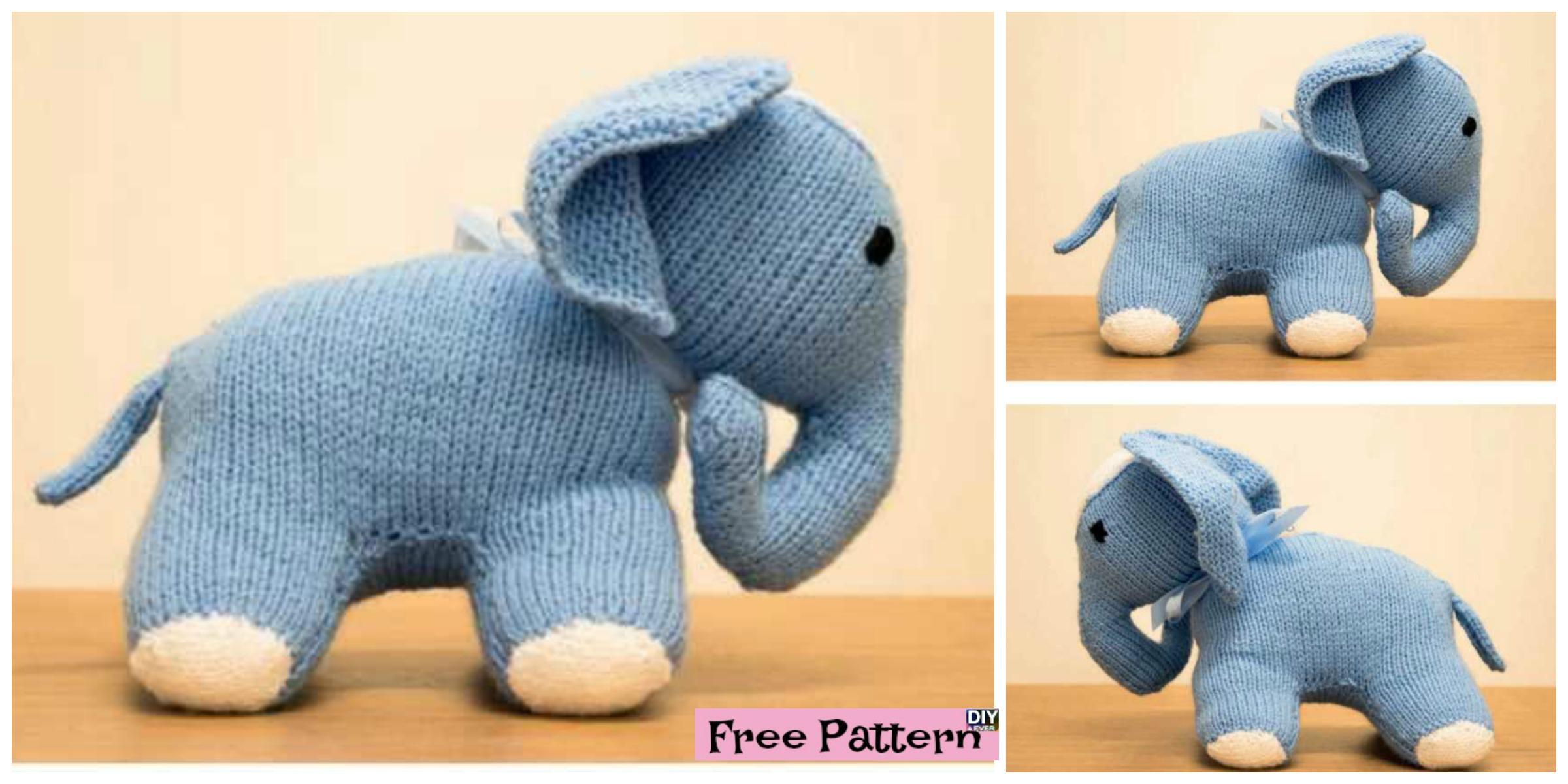 Cute Knit Elephant Amigurumi -Free Pattern - DIY 4 EVER