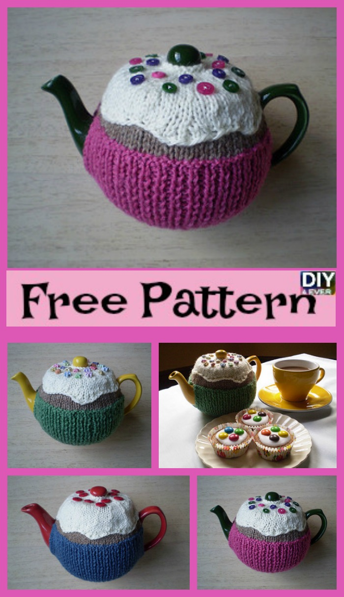 Cute Knitted Fairy Cake Tea Cosy - Free Pattern - DIY 4 EVER