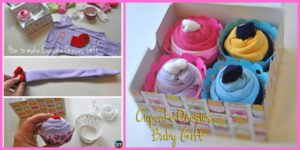 diy4ever -DIY Baby Clothes Cupcake Gift
