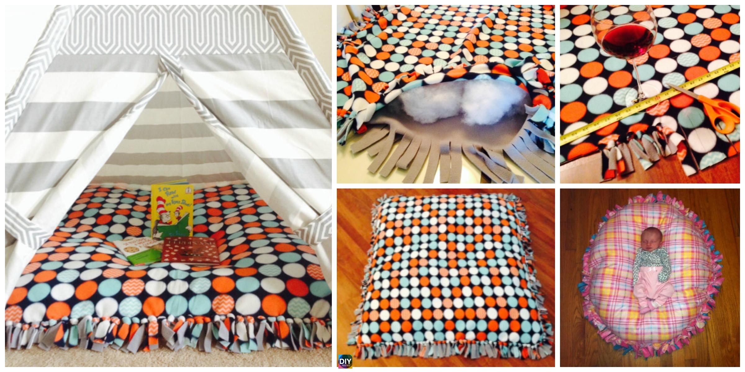 DIY Baby Floor Pillow Tutorial - No Sewing - DIY 4 EVER