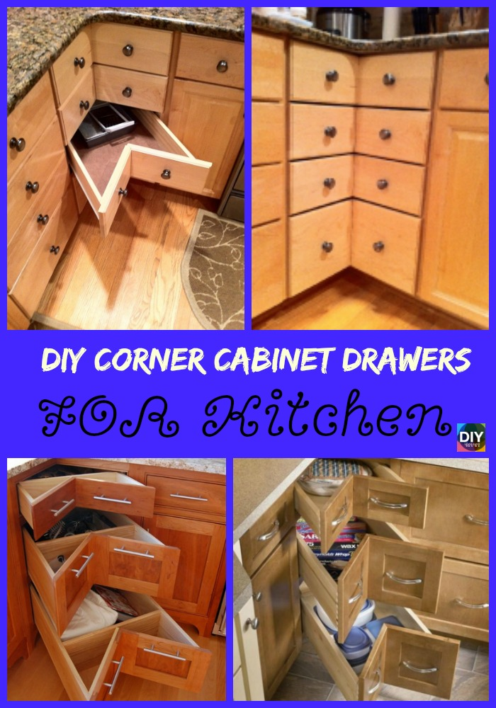 diy4ever- DIY Cabinet Drawer Tutorial - For Corner
