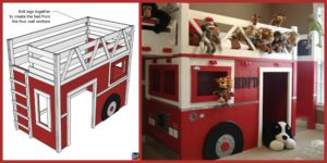 diy4ever- DIY Fire Truck Loft Bed - Step by Step Tutorial
