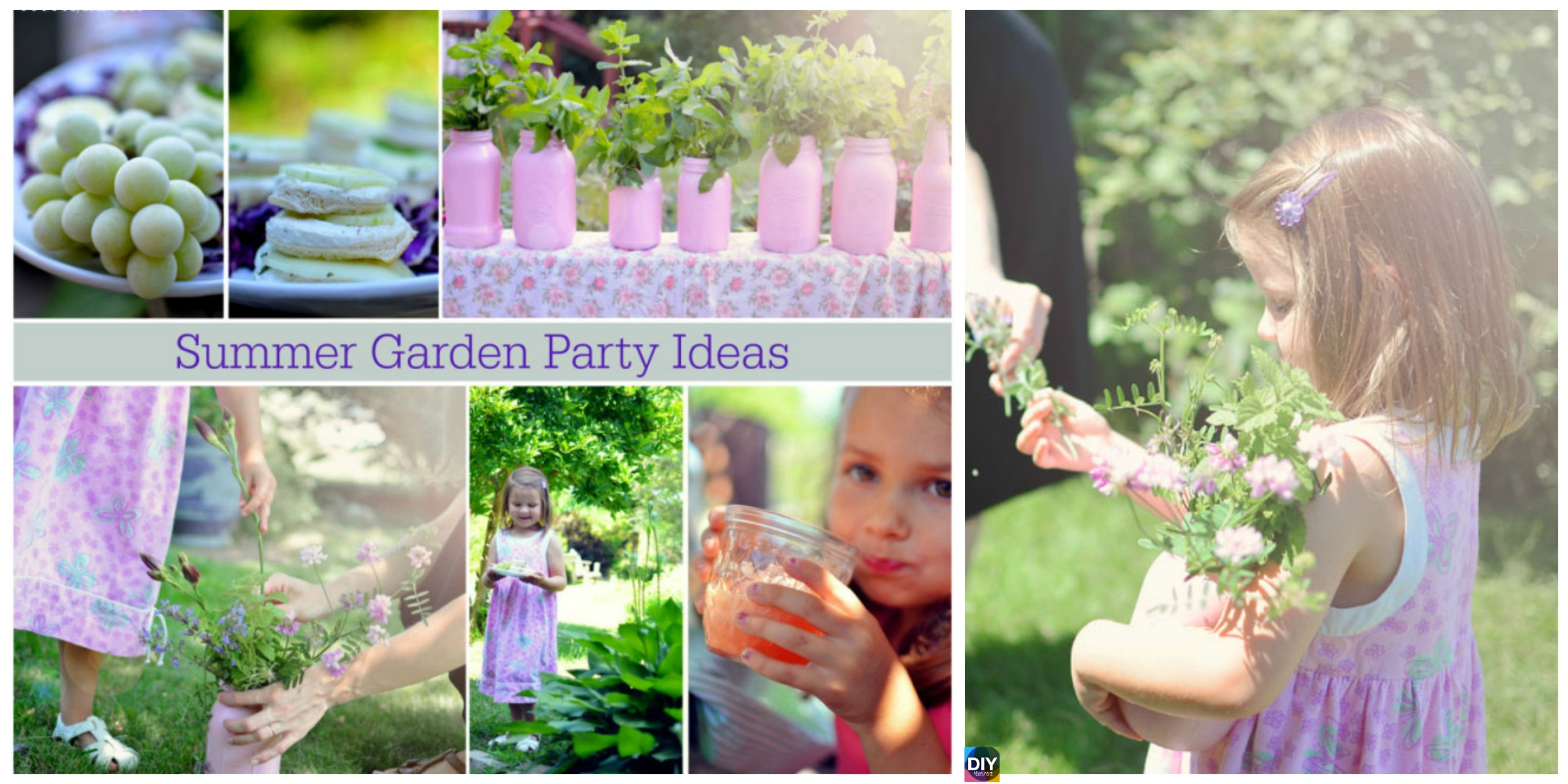 DIY Girls\' Summer Garden Party Ideas - DIY 4 EVER