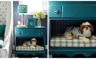 diy4ever- DIY Pet Bed with Nightstand - From Old Dresser