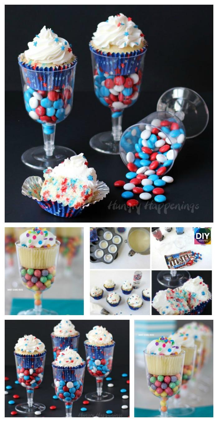 diy4ever- DIY Plastic Champagne Cupcake Stand Tutorial