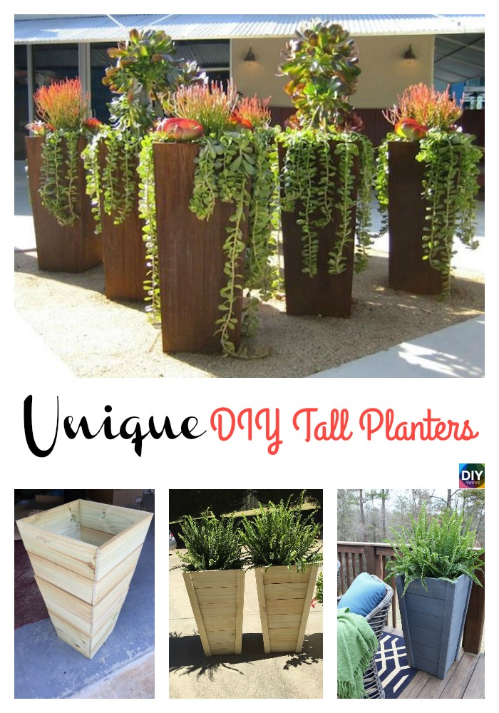 diy4ever- DIY Tall Planters - Unique and Beautiful