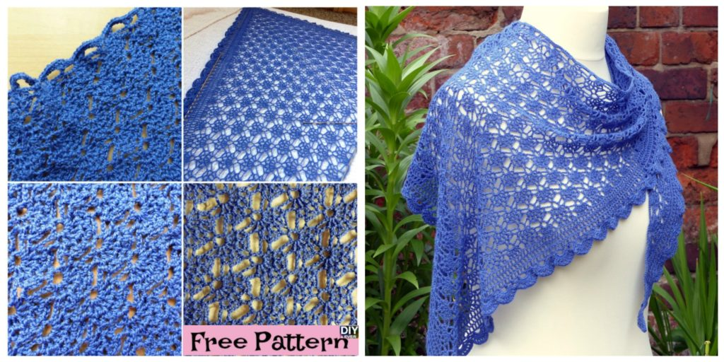 Elegant Crocheted Lace Shawl - Free Pattern - DIY 4 EVER