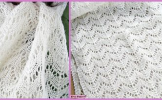 diy4ever- Elegant Knitted Lace Scarf - Free Pattern