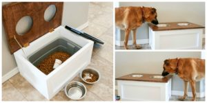 diy4ever-How to DIY Dog Food Station with Storage