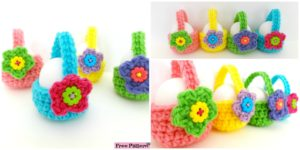 diy4ever- Little Crochet Egg Basket - Free Pattern