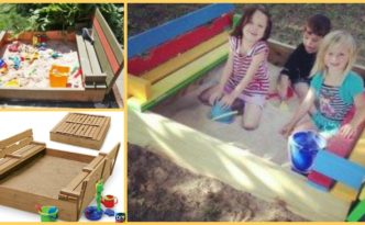 diy4ever-Perfect DIY Sandbox with Cover for Kids