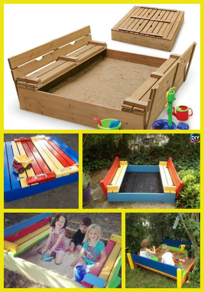 diy4ever- Perfect DIY Sandbox with Cover for Kids