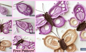 diy4ever- Pretty Crochet Dragon Butterfly - Free Pattern