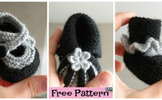 diy4ever- Quick Knit Baby Booties - Free Pattern