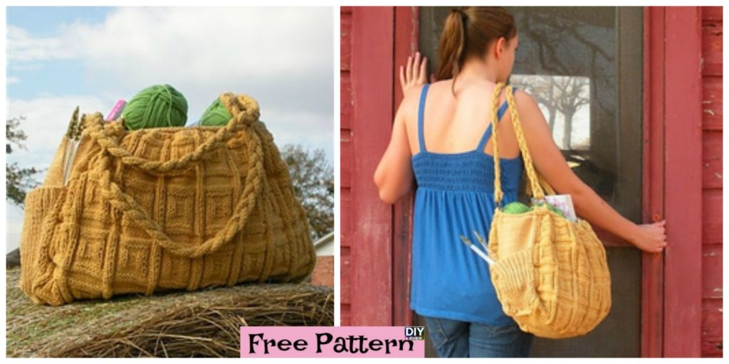 Simple And Generous Knitted Bag Free Pattern Diy 4 Ever
