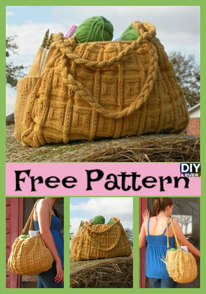 diy4ever -Simple and Generous Knitted Bag - Free Pattern