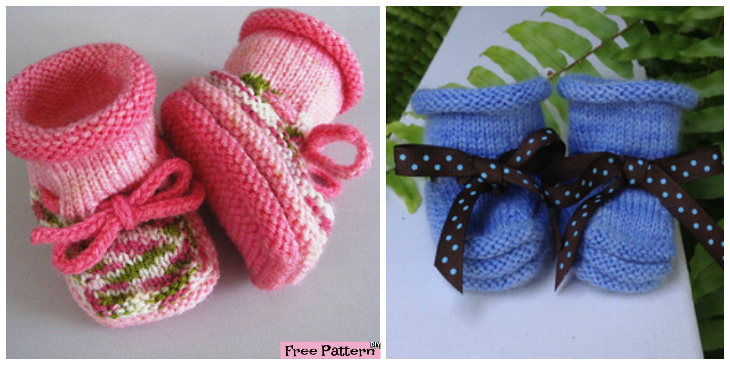 Stay-On Knitted Baby Booties - Free Pattern - DIY 4 EVER