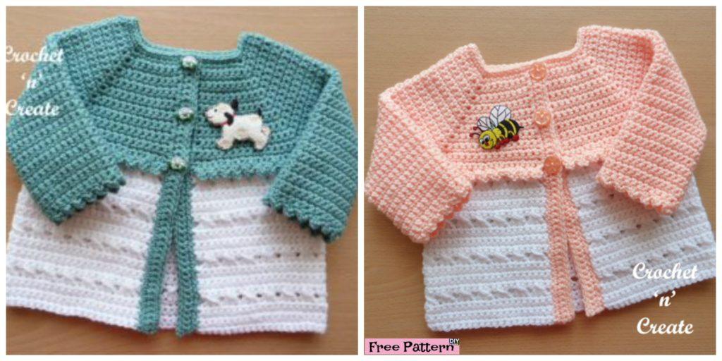 Sweet Crochet Baby Coat Free Pattern Diy 4 Ever