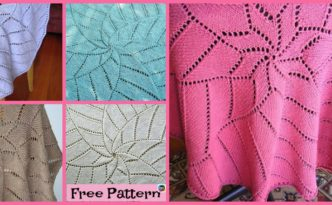 diy4ever- Unique Knit Radiating Star Blanket - Free Pattern