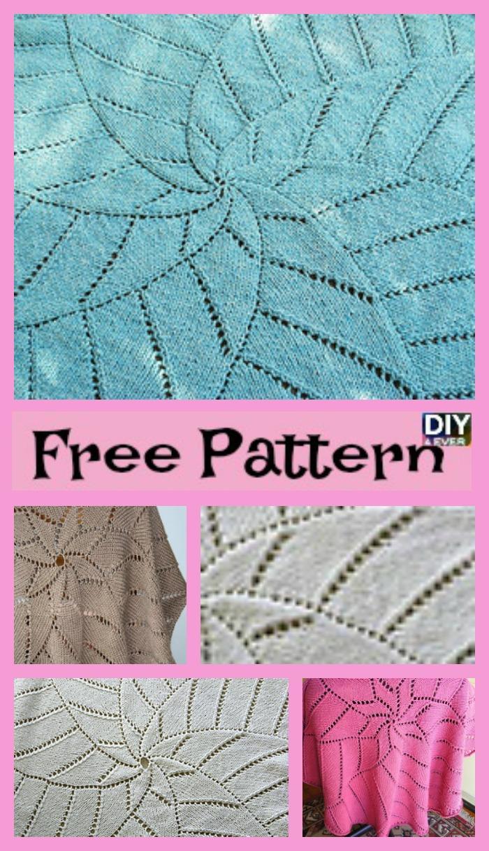 Unique Knit Radiating Star Blanket - Free Pattern - DIY 4 EVER