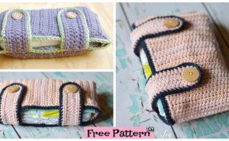 diy4ever- Useful Crochet Diaper Pouch - Free Pattern
