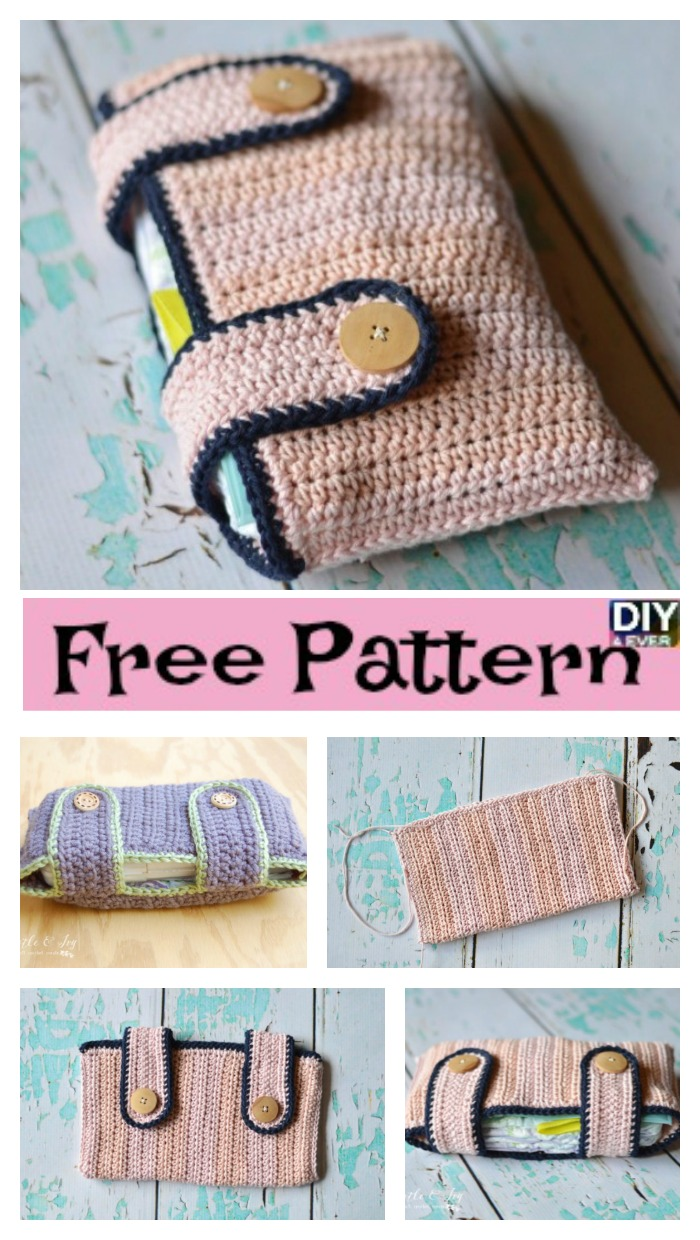 diy4ever- Useful Crochet Diaper Pouch - Free Pattern