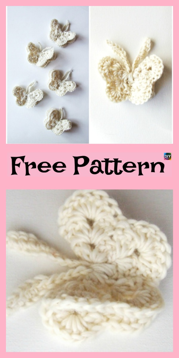 15 Cutest Crochet Beautiful Butterfly - Free Patterns