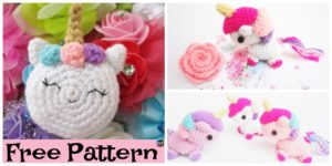 Adorable Crochet Amigurumi Unicorn - Free Pattern