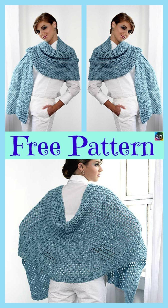 diy4ever- Beautiful Knitted Shawl - Free Pattern