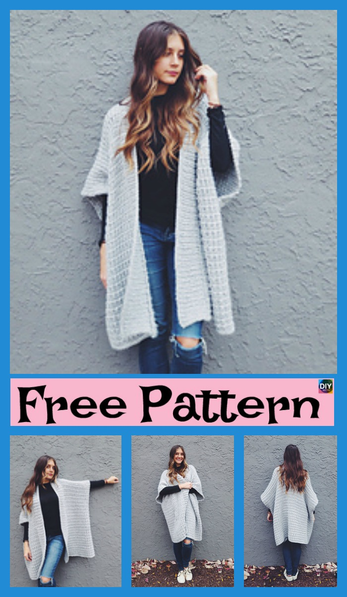 Cloaked in Clouds Knitted Poncho - Free Pattern