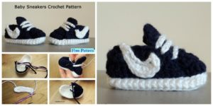 diy4ever-Crochet Baby Nike Sneakers - Free Pattern