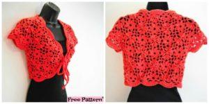 Crochet Flower Jacket with Motifs - Free Pattern