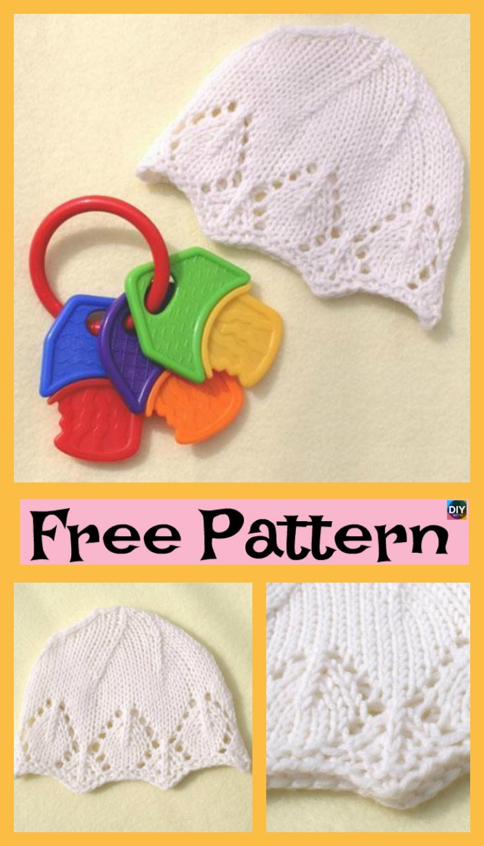 diy4ever- Cute Knitted Baby Hat - Free Patterns