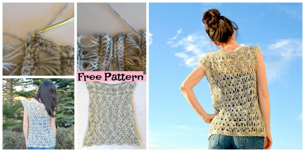Broomstick Crocheted Lace Top Free Pattern Diy 4 Ever