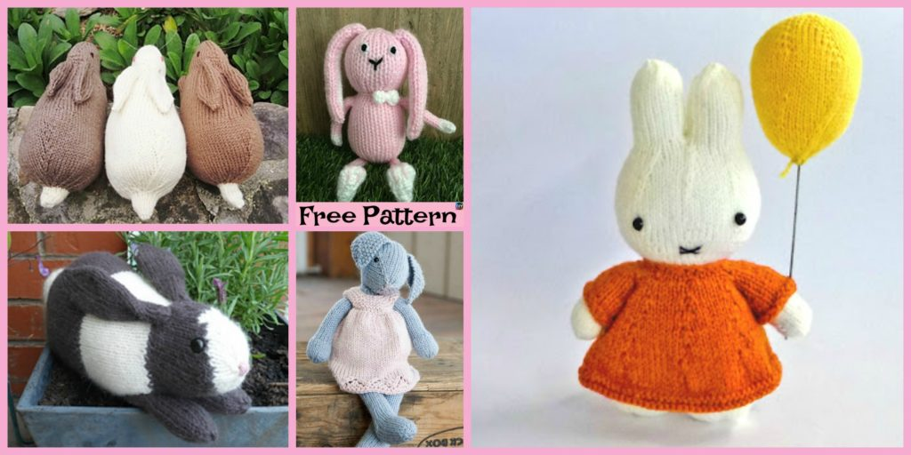8 Knitted Adorable Bunny Free Patterns Diy 4 Ever