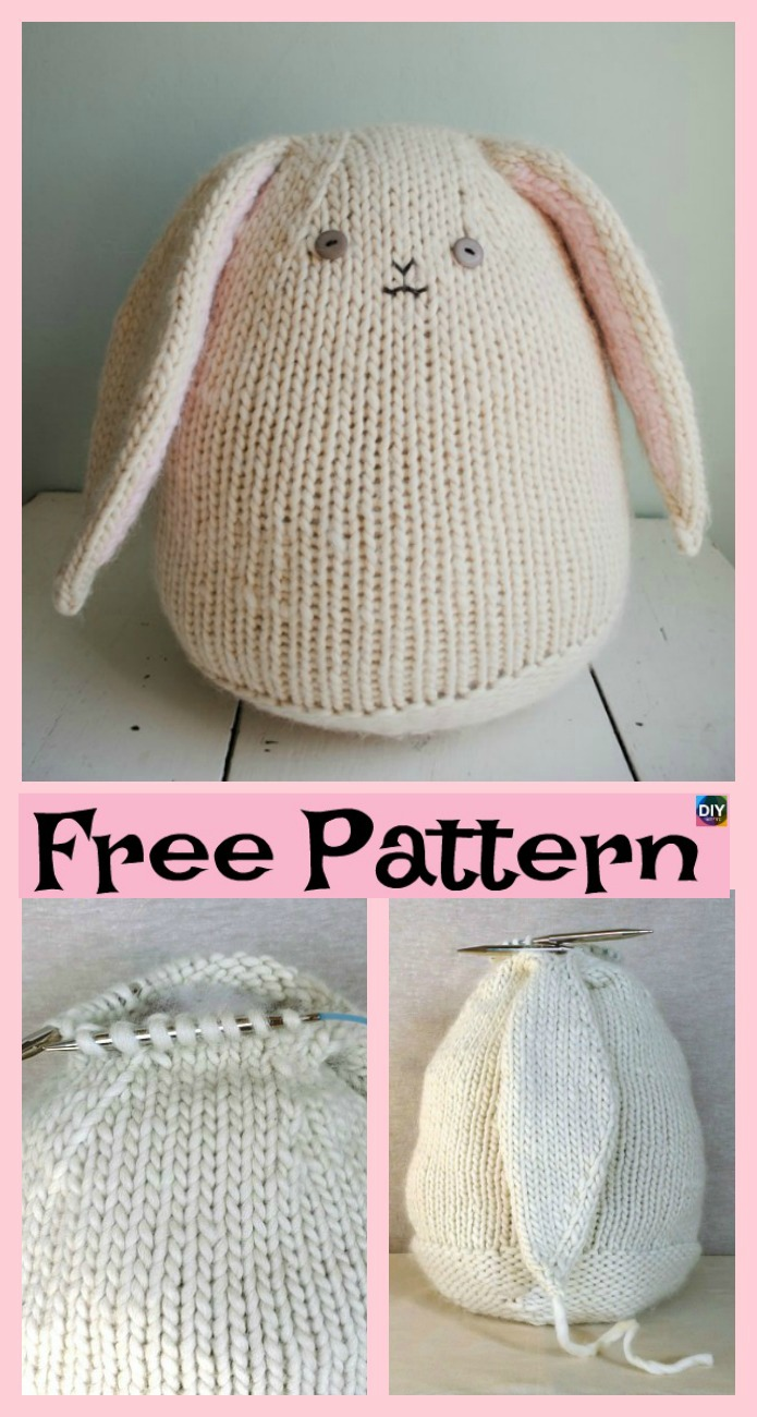 DIY4ever- 8 Knitted Adorable Bunny Free Patterns