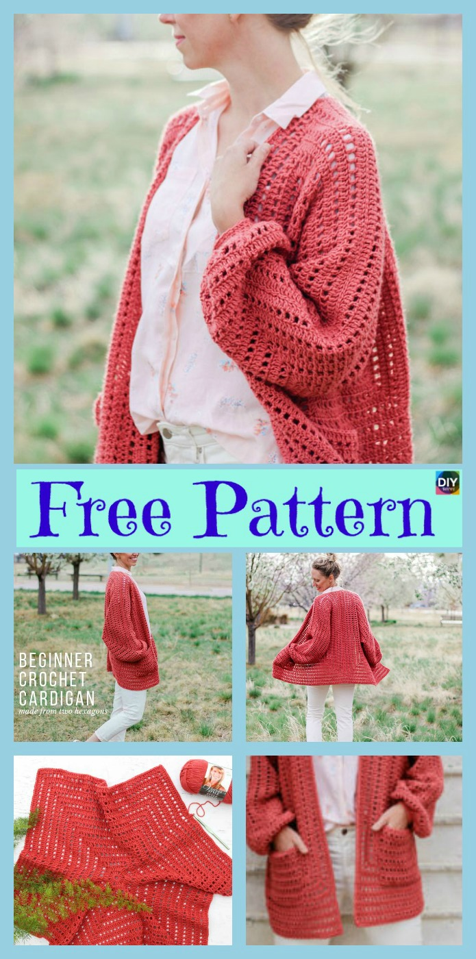 diy4ever-5 Beautiful Crochet Sweater Free Patterns